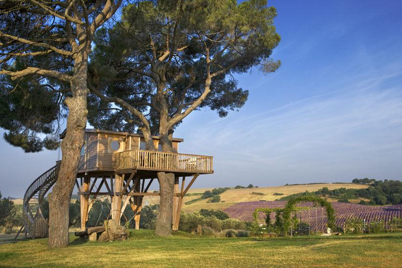 Dormire in una casa sull'albero